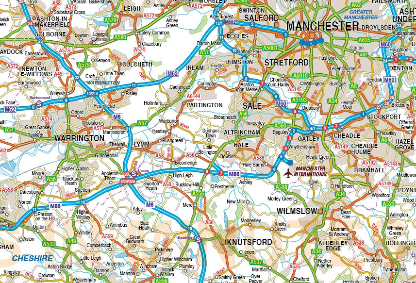 UK Greater City Maps