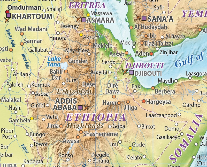 Africa Relief maps