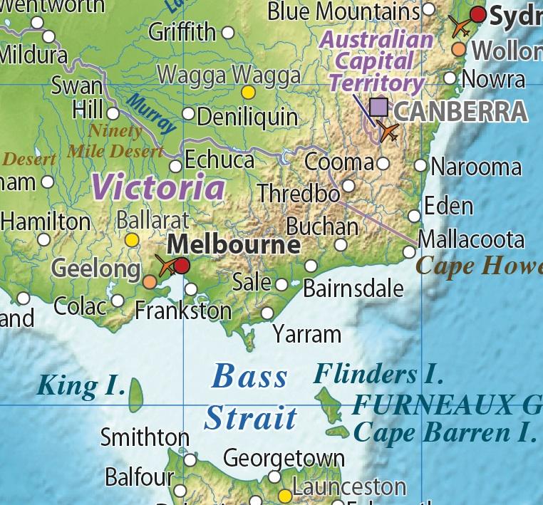 Australasia Relief maps