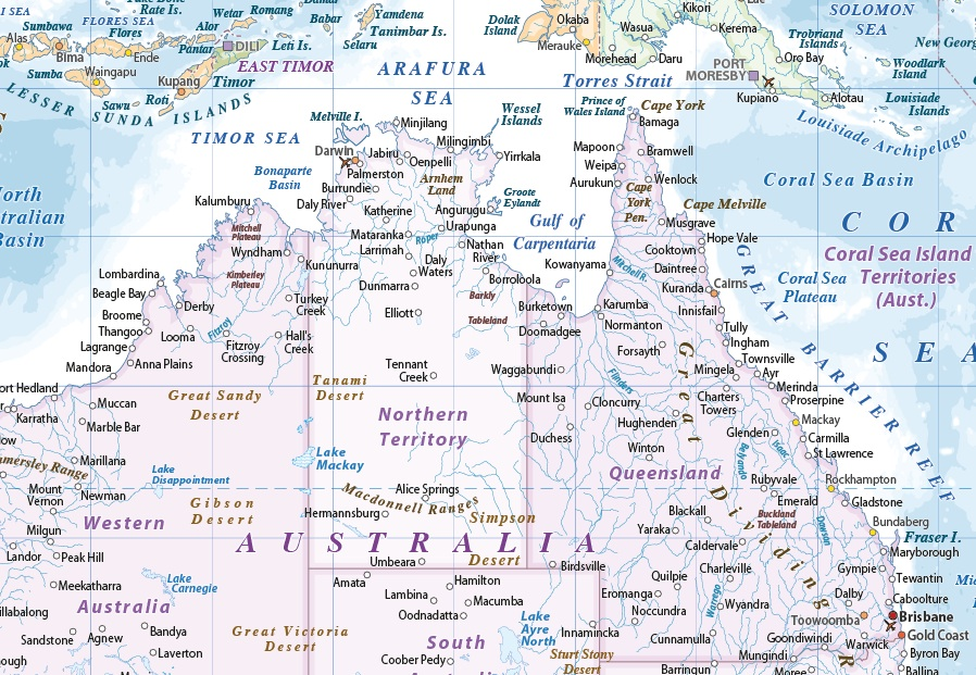 Australasia Political maps