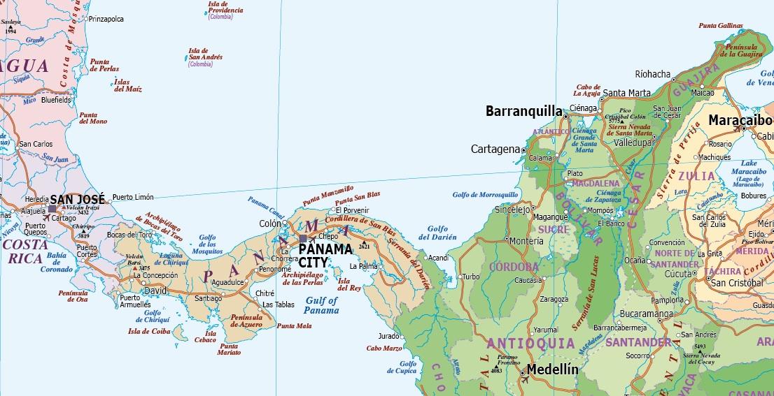 C America Political maps