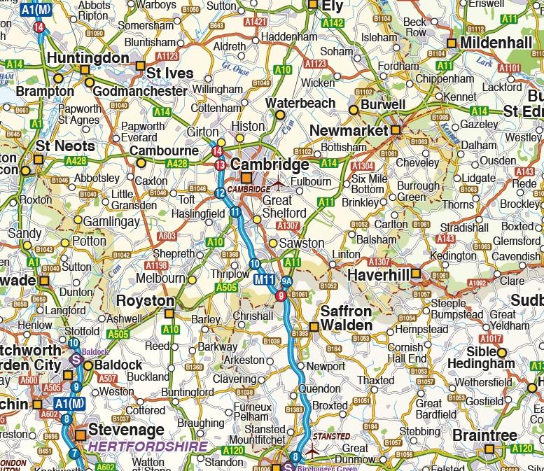 East England maps
