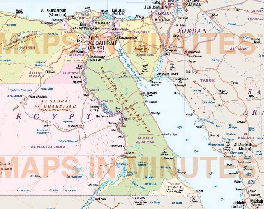 Middle East Country Maps
