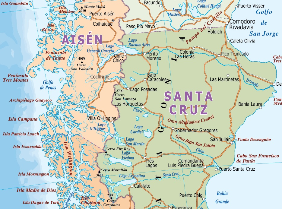 S America Political maps