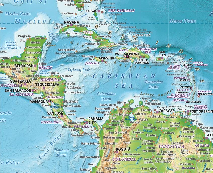 S America Relief maps