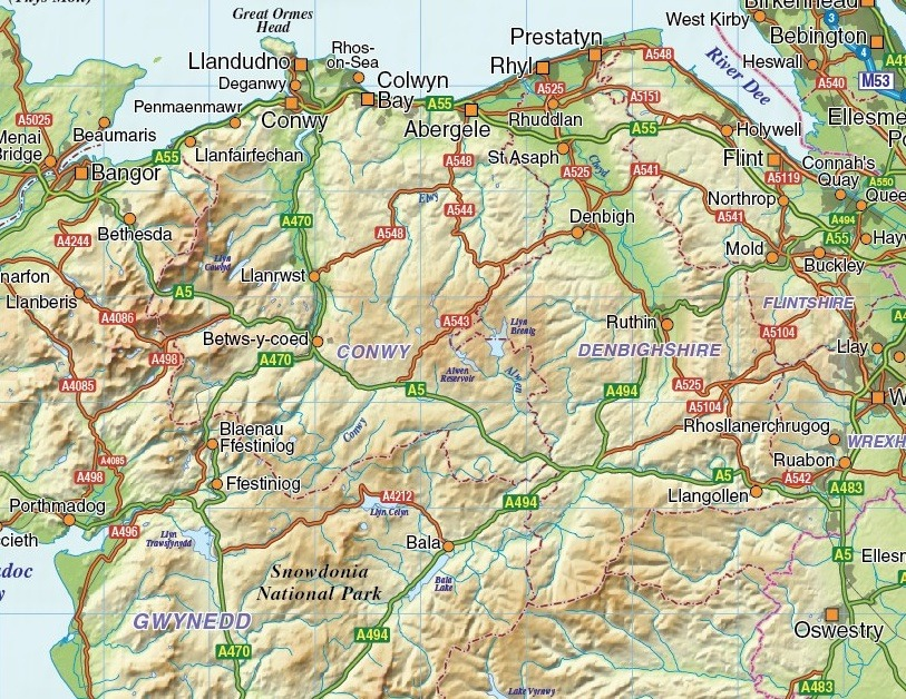 Wales maps