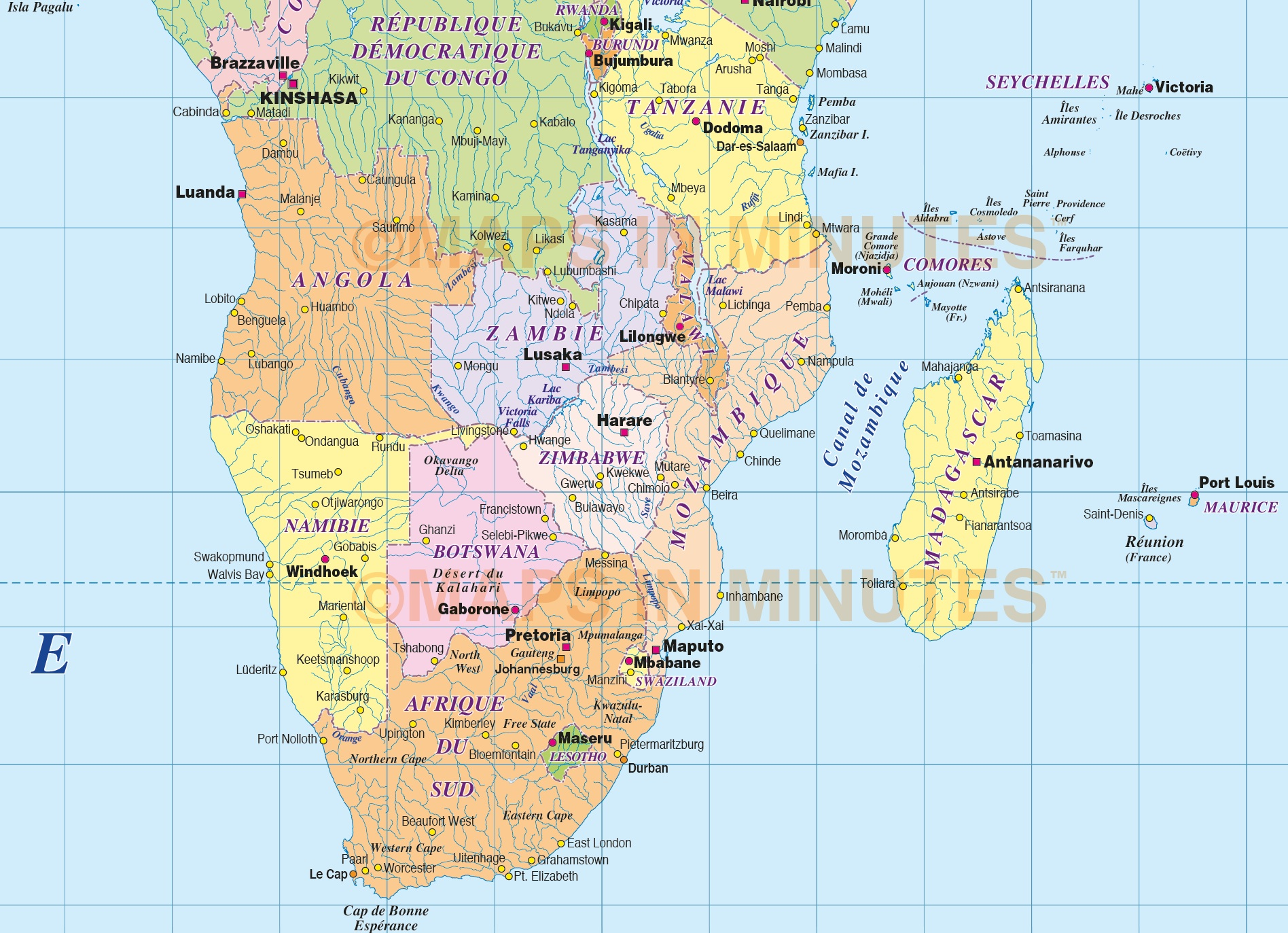 Digital vector world map carte franaise du monde politique vector world map in french carte politique du monde franaise gumiabroncs Images