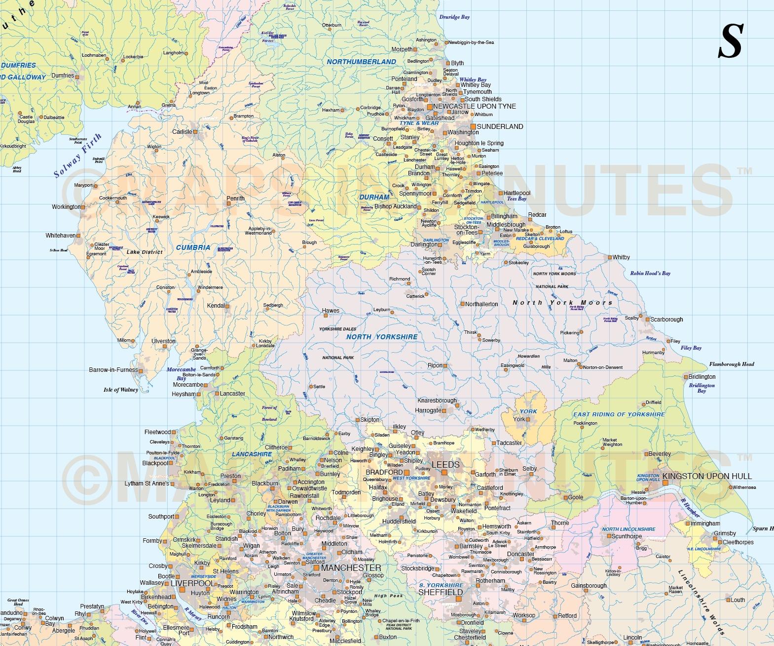 adm british isles county  region  admin map   1 5m scale  transverse mercator projection