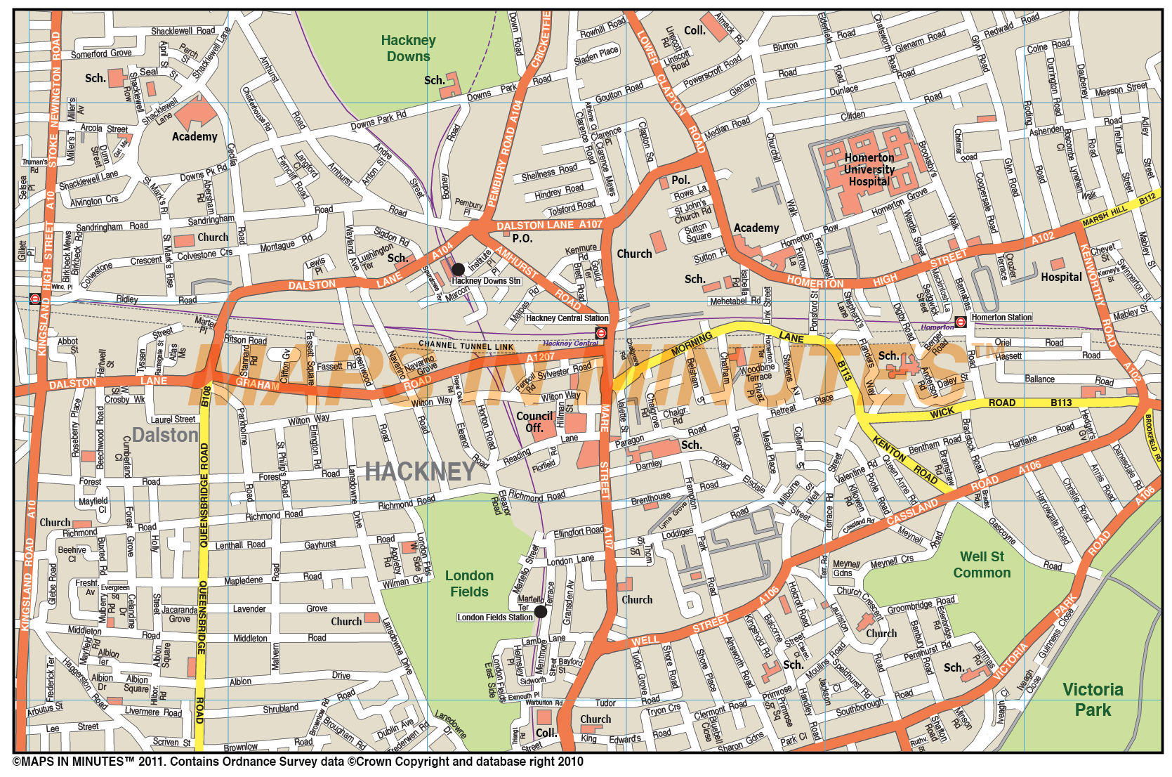 maps in minutes uk custom street maps at 110000 scale