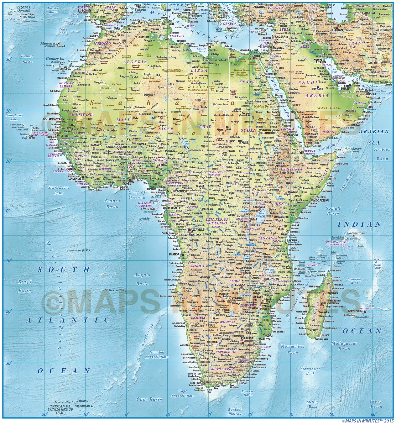 Africa Map Background.Digital Vector Africa Political Map 10 000 000 Scale In Illustrator