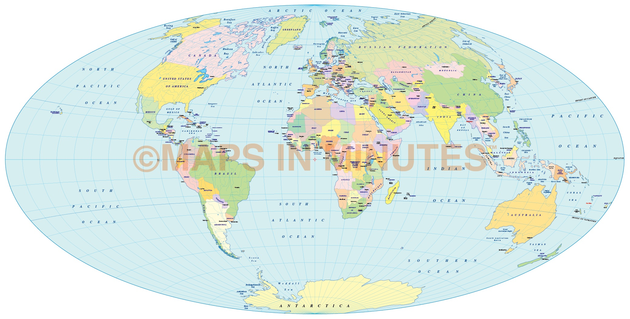 Vector political world map aitoff projection uk centric in vector world map aitoff projection 100m scale uk centric gumiabroncs Choice Image