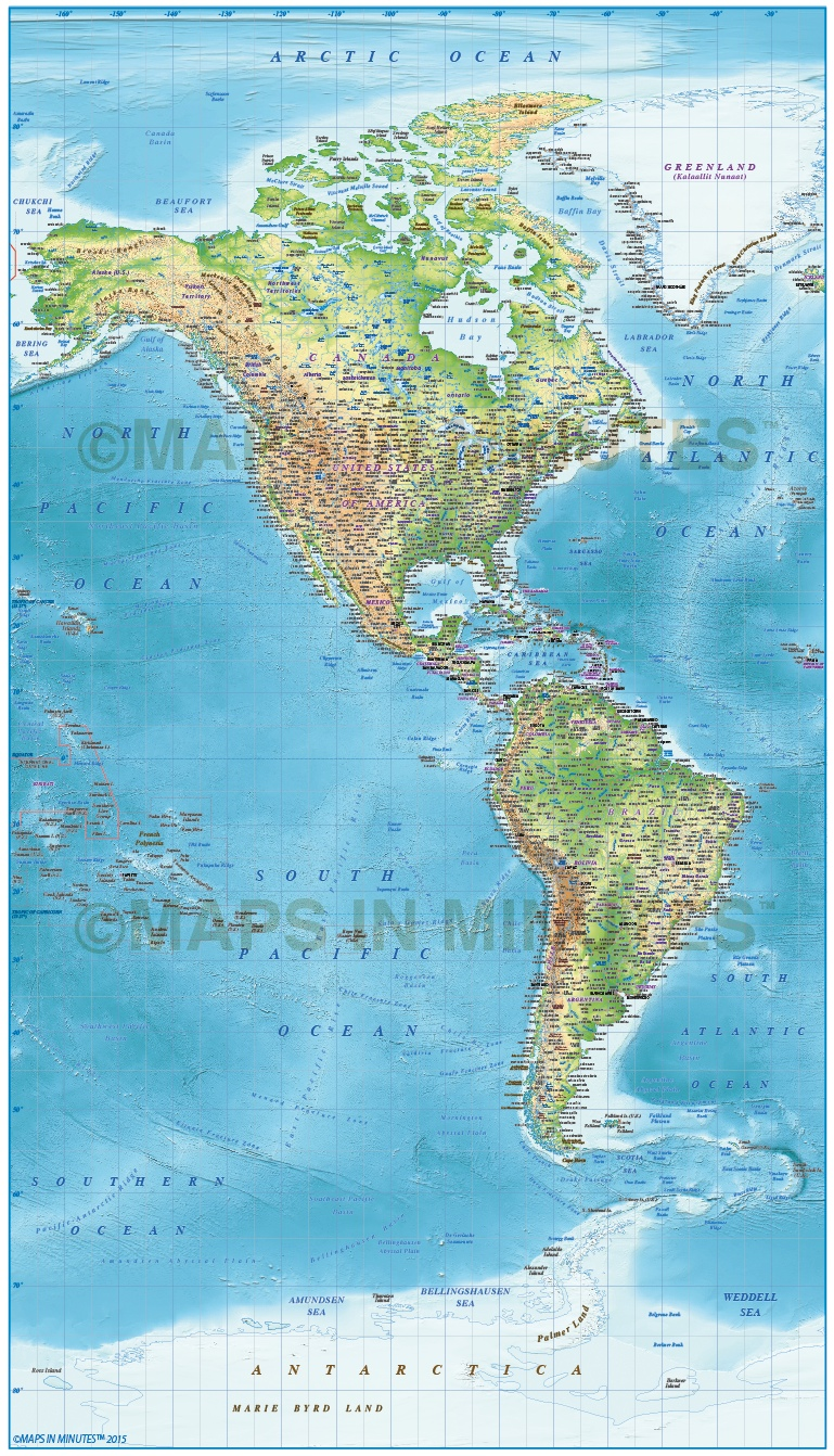 digital vector north and south america political map  10 000 000 scale in illustrator and pdf