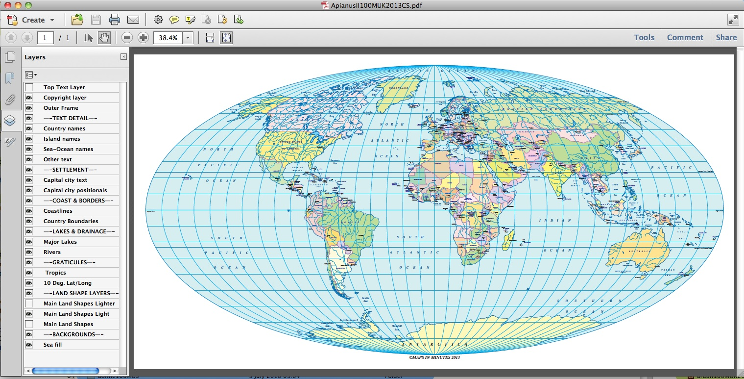 Vector political world map apianus ii projection uk centric in vector world map apianus projection 100m scale us centric pdf version gumiabroncs Gallery