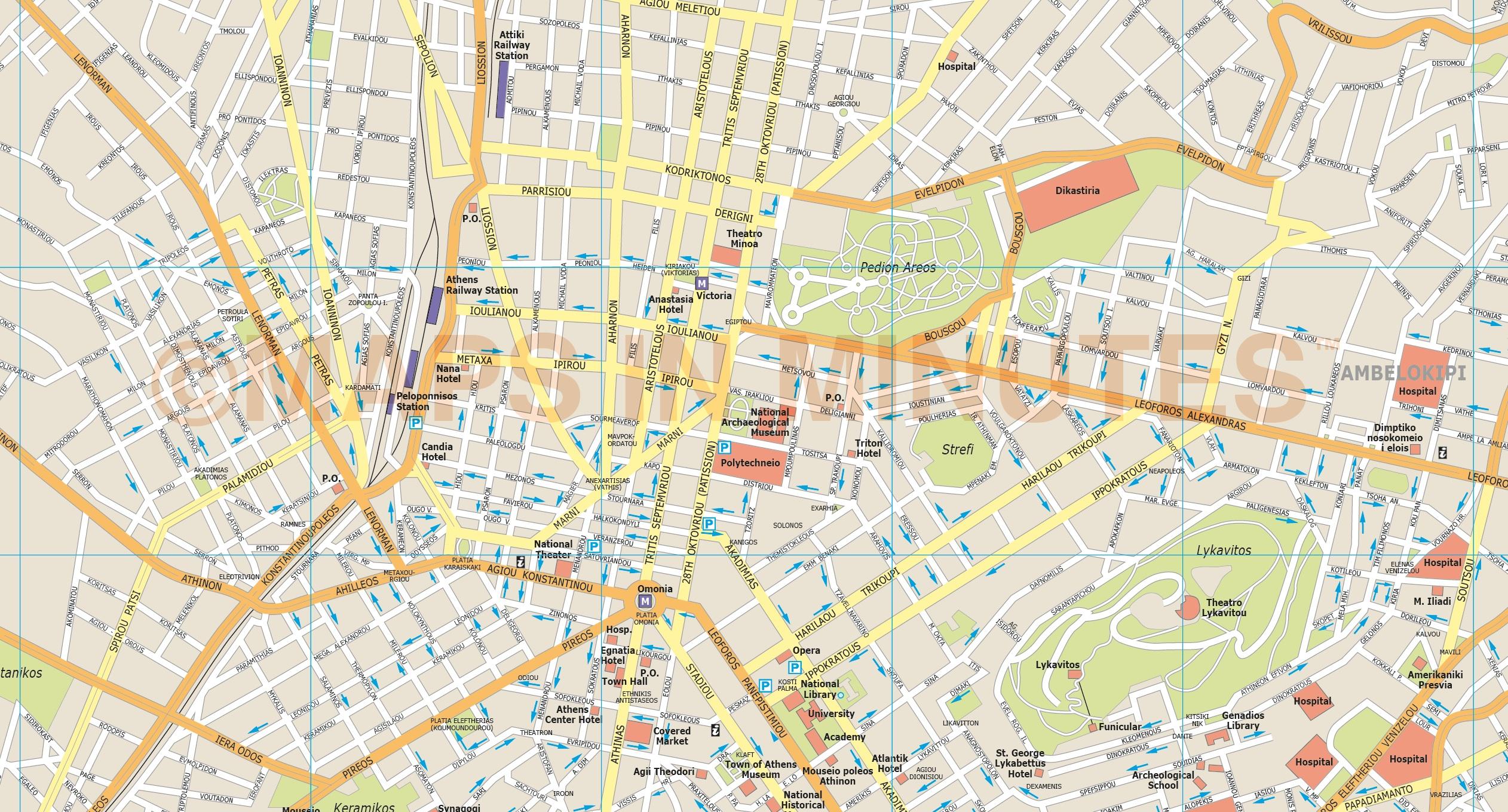 Athens City Map ile ilgili görsel sonucu Athens City Map