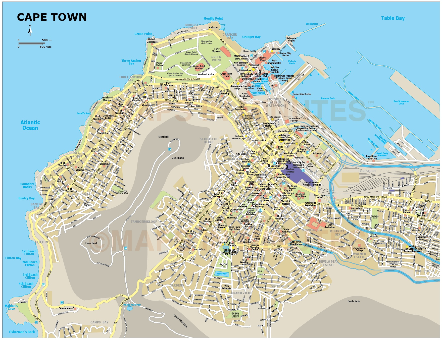 City Of Cape Town: Cape Town City Map Pictures To Pin On Pinterest