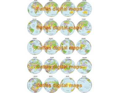20 Political Globe Set