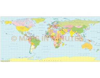 Pavlov Projection @100m scale UK centric world map