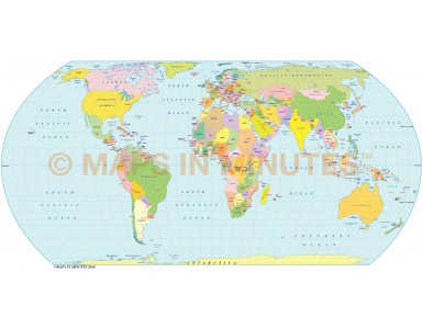 Hatano Projection @100m scale UK centric Political World Map