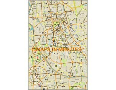 Jakarta city map in Illustrator CS or PDF format