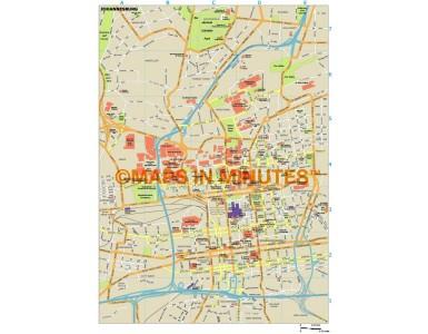 Johannesburg city map in Illustrator CS or PDF format