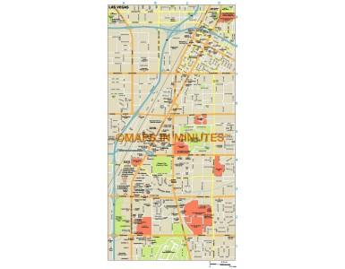 Las Vegas city map in Illustrator CS or PDF format