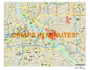 Minneapolis city map in Illustrator CS or PDF format