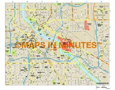 Minneapolis city map in Illustrator CS or PDF format