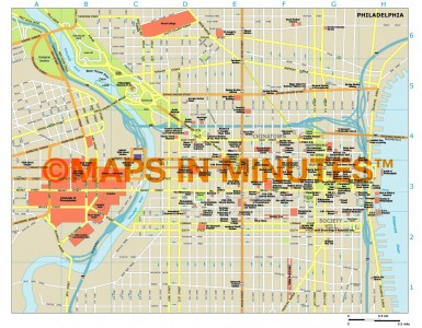 Philadelphia city map in Illustrator CS or PDF format