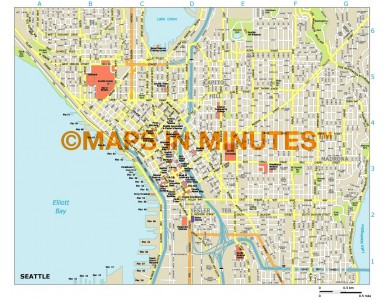 Seattle city map in Illustrator CS or PDF format