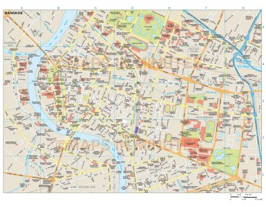 Bangkok city map in Illustrator CS or PDF vector format