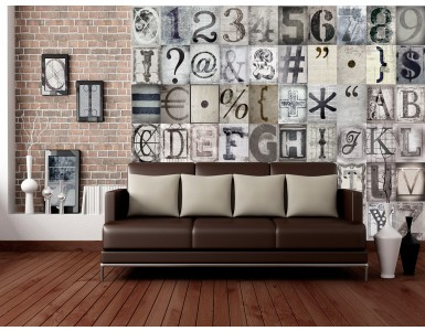 Typography 64 Piece Creative Collage