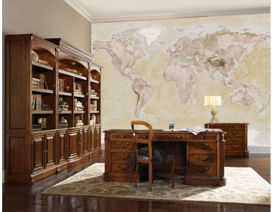 Neutral style Wall World Map 4 piece large Wall mural WM-4P
