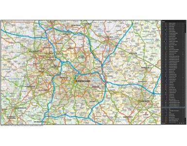 Greater Birmingham-Coventry map @250k scale in Illustrator format
