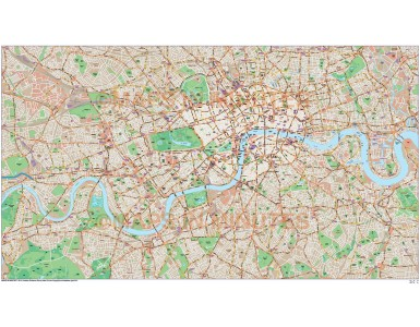 London Large Base map @10,000 scale in Illustrator CS format full area