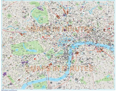 Deluxe London city map in Illustrator CS or PDF format