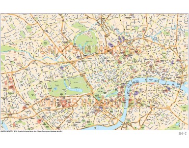 Digital vector London Economy city map in Illustrator CS or PDF format