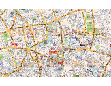 Central London Street Map Poster - Large size, amazing detail, unique mapping.