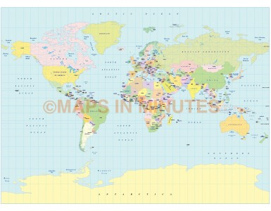 World Political Small scale Map Collection - 10 map selection