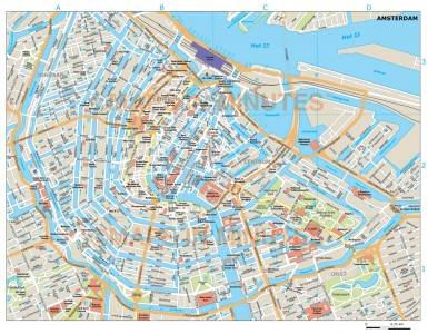 Amsterdam city map in Illustrator CS or PDF format