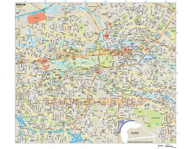Berlin city map in Illustrator CS or PDF format