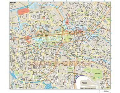 Berlin city map in Illustrator CS or PDF format