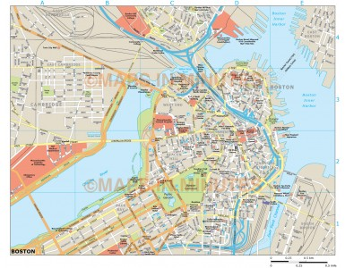 Boston city map in Illustrator CS or PDF format