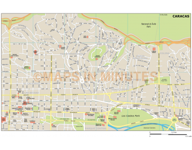 Caracas city map in Illustrator CS or PDF format