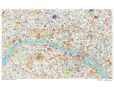 Paris city map in Illustrator CS or PDF format