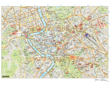 Rome city map in Illustrator CS or PDF format