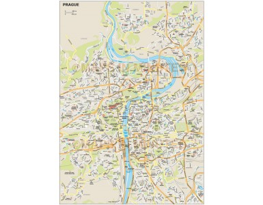 Prague city map in Illustrator CS or PDF format