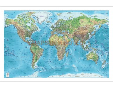 Contemporary fine Paper World Wall Map Regular style - 60 inches wide x 40 inches deep