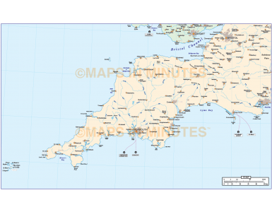 South West England Basic Map @1m scale