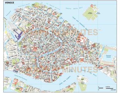 Venice city map in Illustrator CS or PDF format area