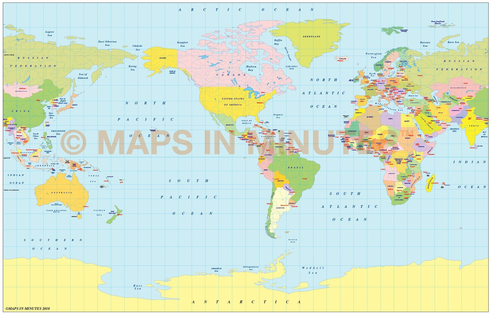 Vector world political map in the braun projection us centric in vector world map braun projection digital map in illustrator and pdf formats gumiabroncs Choice Image